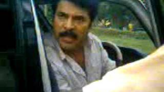 prv mammootty shouting his fans