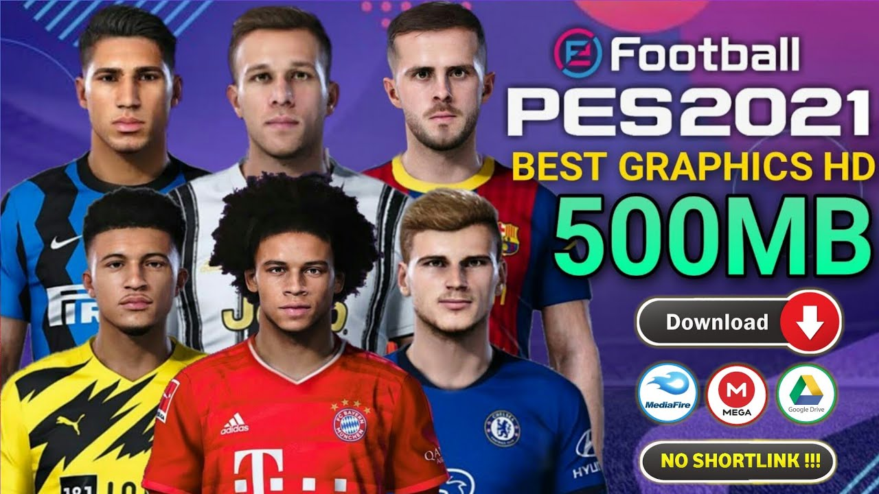 PES 2021 PPSSPP Lite 500MB Terbaru Liga Eropa New Update Kits & Transfer Camera PS4 Android Offline