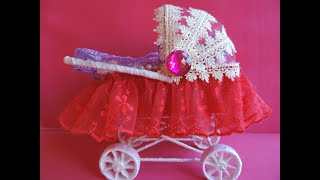 як зробити коляску для ляльки своїми руками в домашніх умовах