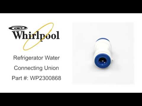 Whirlpool Refrigerator Water Connecting Union Part #: WP2300868
