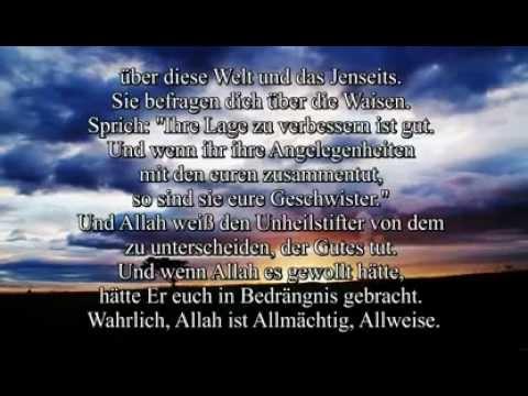 Quran Sure 2 Al Baqara Komplett mit Deutscher Übersetzung