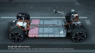 Płyta podłogowa i napędy Audi Q e-tron