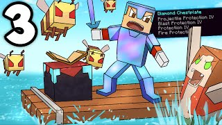 BEE ARMY!! Minecraft but its raft part 3