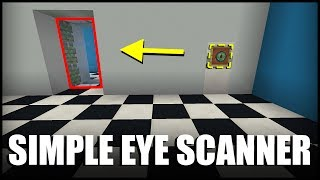 How to Make a Simple Eye Scanner in Minecraft