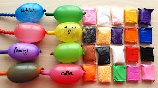 Making slime with funny Balloons and Clay