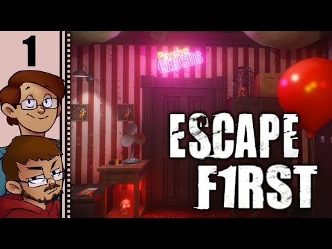 Let's Play Escape First Multiplayer Part 1 - Psycho Circus