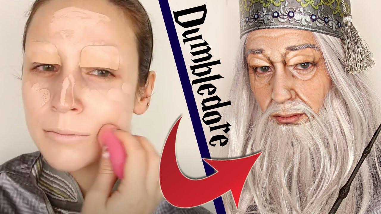 Je me transforme en Dumbledore dans Harry Potter ! 😱 (maquillage Halloween 2021)