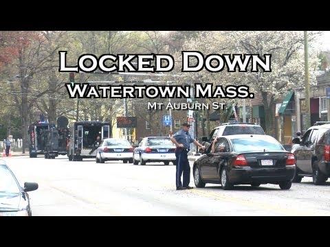 Boston Herald Watertown In Lock Down Boston Marathon Bomber Suspect Manhunt