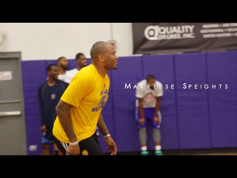 Marreese Speights putting in work at Chuck Ellis Training Camp