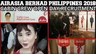 Video AIRASIA BERHAD CABIN CREW OPEN DAY RECRUITMENT PHILIPPINES 2018 download MP3, 3GP, MP4, WEBM, AVI, FLV Agustus 2018