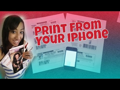 HOW TO Print Coupons From Your Iphone: Couponing 101