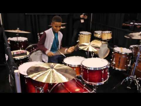Kojo Roney drumming at NAMM 2016