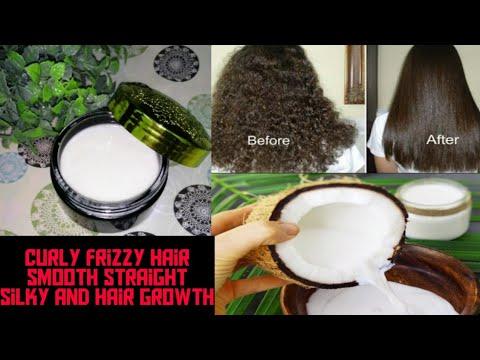 Straight Frizzy Dry Hair - Homemade mask 100% Working Remedy Urdu Hindi