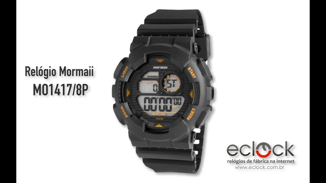 21e2aad8c23eb Relógio Mormaii Masculino MO1417 8P - Eclock - YouTube