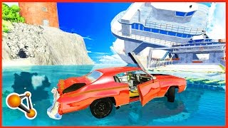 BeamNG.Drive - Water Sliding High Speed Crashes