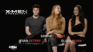 XMEN Interviews: Jennifer Lawrence, James McAvoy, Sophie Turner, Evan Peters, Olivia Munn