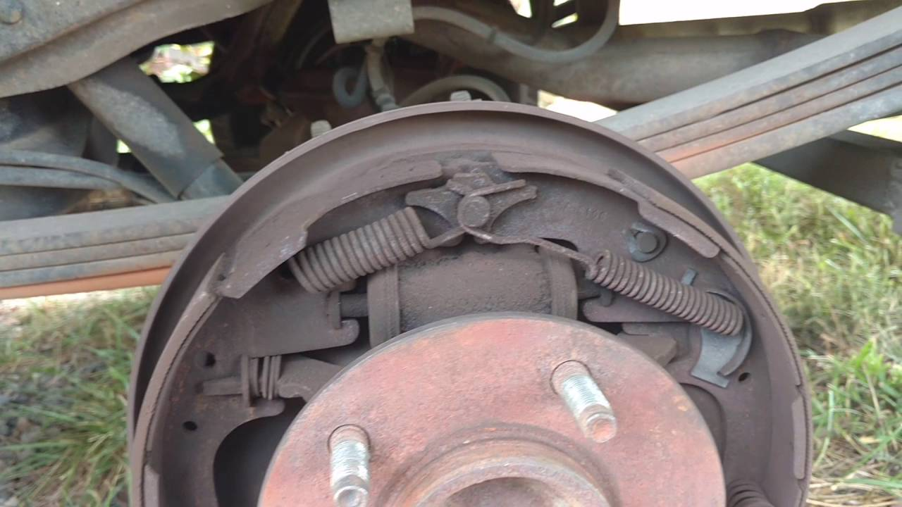 1996 ford f 150 rear brake shoe replacement [ 1280 x 720 Pixel ]