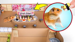How to Make Cardboard Sushi Train For Your Hamster 🍣🐹