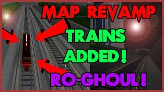 [TRAINS ADDED Ro-Ghoul ] NEW MAP PREVIEW in Ro-Ghoul | Roblox