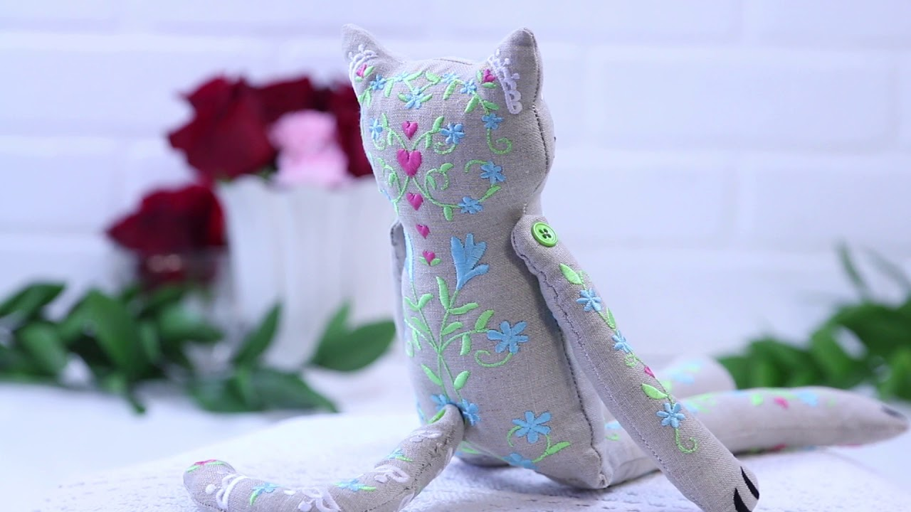 Embroidery Library Cutie Kitty Doll Youtube