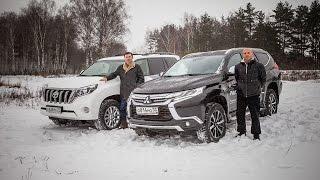 Тест-драйв Toyota Land Cruiser Prado vs  Mitsubishi Pajero Sport(Их осталось двое! Оба против настоящего русского бездорожья! На зимнем тест-драйве под проливным ледяным..., 2016-11-21T20:47:54.000Z)