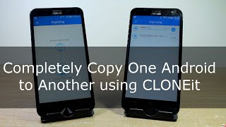 Completely Copy One Android to Another using CLONEit