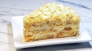 ЛЕНИВЫЙ НАПОЛЕОН. Рецепт торта БЕЗ ВЫПЕЧКИ