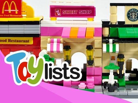 Mini Street (Apple, McDonalds, Dunkin' Donut, Starbucks) - Toys