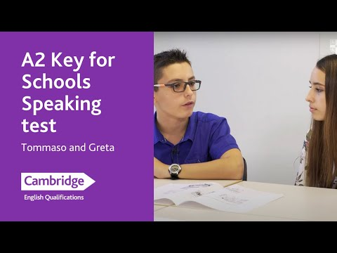 A2 Key for Schools speaking test (from 2020) - Tommaso and Greta