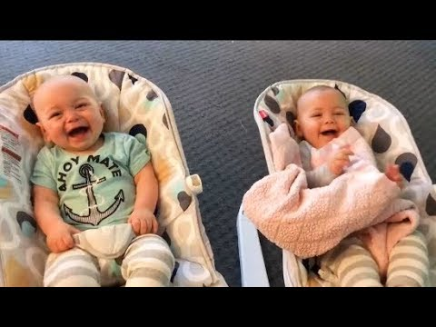 Funny Twins  Baby Playing Together -  Twin Babies Laughing and Playing Together Compilation 2019