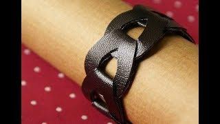 Крутой кожанный браслет своими руками