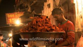 People Enjoying Tandoori Chicken In Bhopal
