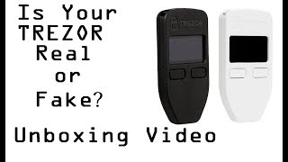Unboxing a Trezor Hardware Wallet - Identifying Tampered Packaging