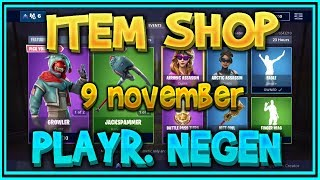 Fortnite ITEM SHOP van 9 November *NIEUWE SKINS* GROWLER & FLAPJACKIE – Playr NEGEN