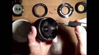 Cleaning Aperture blades in Mamiya Sekor C  1:2.8  f=80mm______Motion Lapse Film