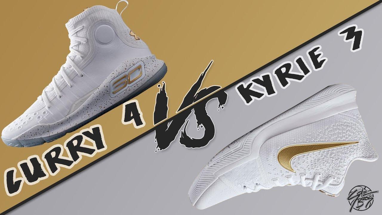 Under Armour Curry 4 vs Nike Kyrie 3