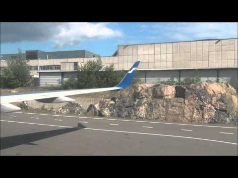 Finnair Boeing 757-200 taxi and takeoff at Helsinki
