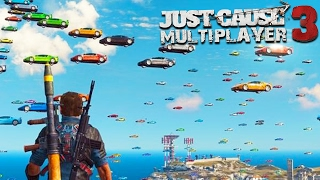 THE MOST INSANE MODDED GAME EVER!!! (Just Cause 3 Multiplayer)