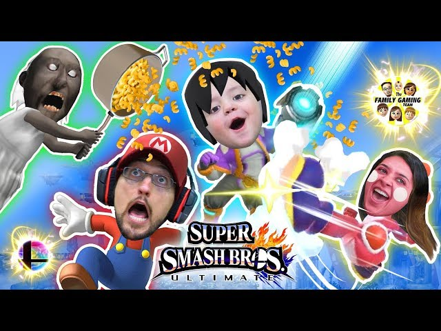 Super Smash Bros ULTIMATE Macaroni!!  FGTEEV Pasta Time (All Characters not UNLOCKED but Granny lol)