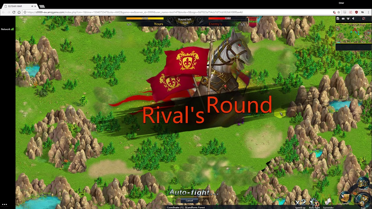 Elysian War Gameplay (Browser Strategy Game with RPG Elements)