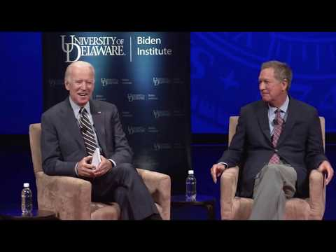 Gov. John Kasich & V.P. Joe Biden - University of Delaware