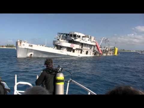 Kittiwake Sinking - Grand Cayman - 5th Jan 2011, 2:34PM
