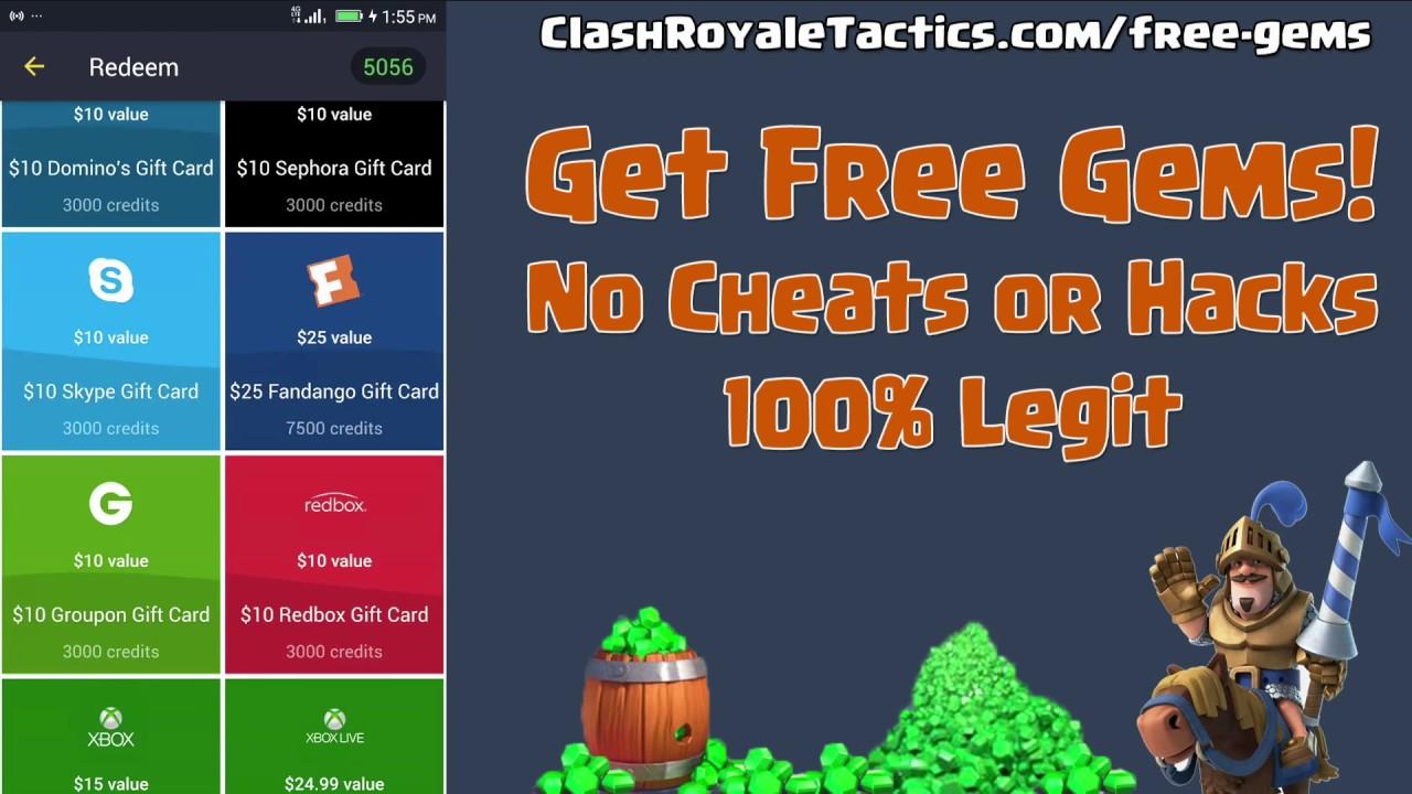 Get Free Gems the Legit way – no hack or cheats – Clash