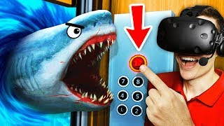 Unlocking SECRET UNDERWATER FLOOR In VR ELEVATOR (Floor Plan VR Funny Gameplay)