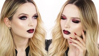 Easy Halloween Glam Makeup Tutorial // MyPaleSkin /ad