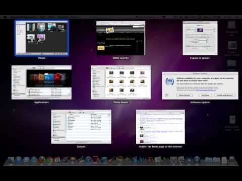 How to use Expose and Spaces in Mac OSX