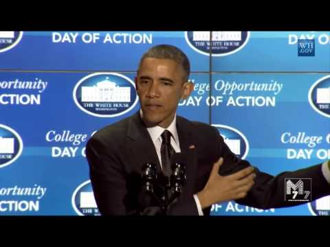 President Obama delivers his remarks at the College Opportunity Day of Action