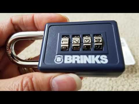 BRINKS 4 Digit Combo Pad Lock + How To Resetting Code!