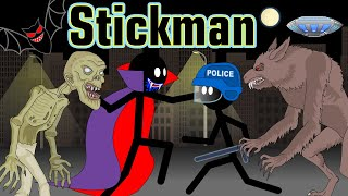 Stickman mentalist. The horrors of our town.  Zombie, Vampire, Werewolf