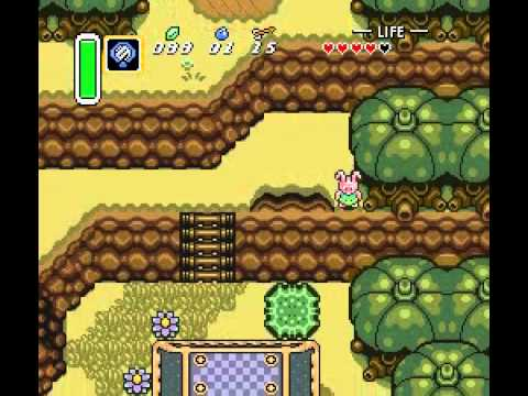 A Link to the Past: Tempered Sword early and Pyramid as Rabbit